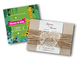 Invitations, faire-part et signets